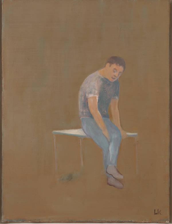 Leander Kaiser, Lavorare stanca, Öl auf Leinwand, 80 x 60 cm, 2014