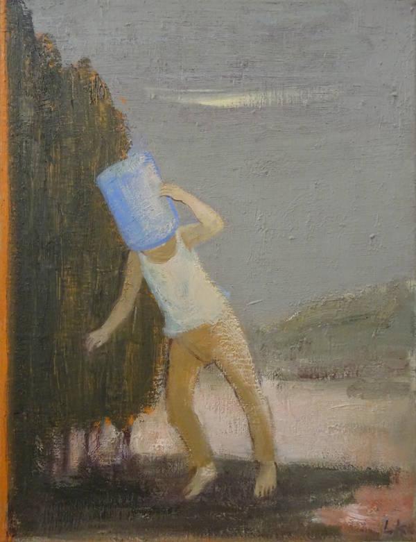 Leander Kaiser, Durchs Hinterland, Öl auf Leinwand, 65 x 50 cm, 2016