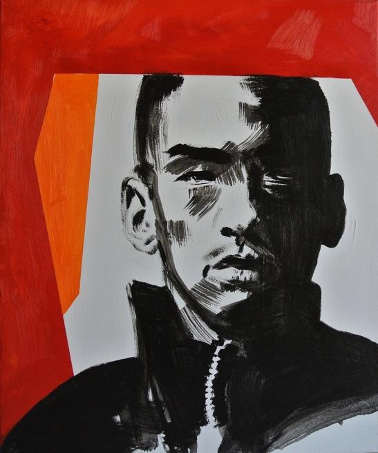 Titanilla Eisenhart, HELD 60 x 50 cm Öl und Acryl auf Leinwand 2017