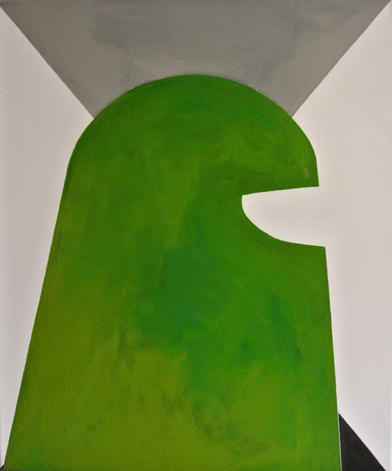 Titanilla Eisenhart, SAGE 60 x 50 cm Öl auf Acryl auf Leinwand 2017